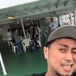 第一回旅人 東京湾フェリーで乾杯