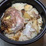 鯛の炊き込みごはんとインドカレーとスジ煮込みを一気に調理