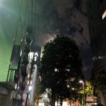 遠くは雷雨の不安定な天気の東京でくさやの匂いにやられる