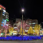 高円寺も駅前はクリスマスな夜