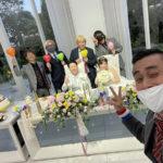 狭山でトモヤの結婚パーティーにゾンビのメンバーと出席